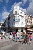 拉格,葡萄牙 在Liberdade大道的拉格旅游业 库存图片