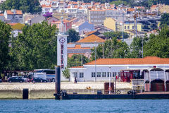 贝拉母港在里斯本-贝拉母港口-里斯本-葡萄牙- 2017年6月17日 库存照片