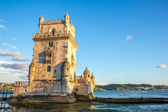 贝拉母葡萄牙塔  免版税库存图片