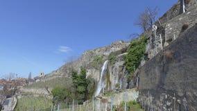 拉沃葡萄园梯田是在沃州小行政区的一个区域在瑞士 影视素材