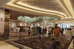 贝拉焦旅馆内部在拉斯维加斯, 2013年8月06日的NV 库存图片