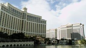 贝拉焦旅馆和喷泉的美妙的射击 股票视频