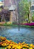 贝拉焦旅馆音乐学院&植物园 免版税图库摄影