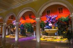 贝拉焦旅馆音乐学院&植物园 库存照片