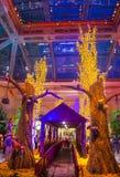 贝拉焦旅馆音乐学院&植物园 库存图片