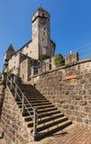 拉珀斯维尔城堡在瑞士 免版税库存图片