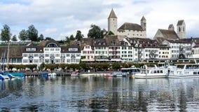 拉珀斯维尔-瑞士 库存照片