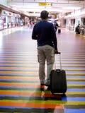 拉瓜伊拉巴尔加斯状态/委内瑞拉08/11/2018国际机场西蒙・波利瓦迈克蒂亚社论 免版税库存图片