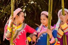 拉祜妇女 图库摄影