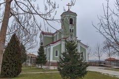 拉科夫斯基,保加利亚- 2016年12月31日:圣母玛丽亚的天主教堂圣母无染原罪瞻礼在拉科夫斯基镇  免版税库存照片