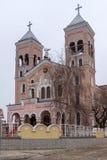 拉科夫斯基,保加利亚- 2016年12月31日:圣迈克尔天主教堂天使在拉科夫斯基镇  免版税库存图片