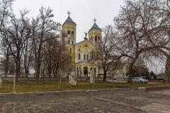 拉科夫斯基,保加利亚- 2016年12月31日:天主教堂耶稣的多数圣洁心脏在拉科夫斯基镇  图库摄影