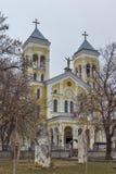 拉科夫斯基,保加利亚- 2016年12月31日:天主教堂耶稣的多数圣洁心脏在拉科夫斯基镇  免版税库存照片