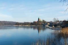拉策堡教会在德国 免版税图库摄影