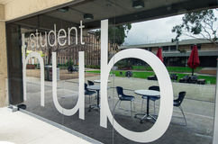 拉筹伯大学在墨尔本澳大利亚 免版税库存照片