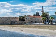 拉纳卡城堡在塞浦路斯 免版税库存图片