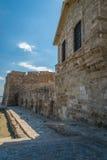 拉纳卡城堡塞浦路斯 免版税库存图片
