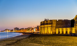 拉纳卡城堡,塞浦路斯 库存图片