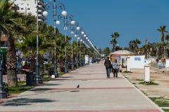 拉纳卡塞浦路斯 免版税库存图片