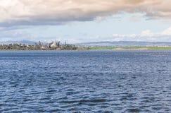 拉纳卡盐湖 库存照片