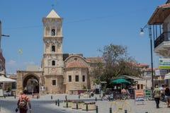 """拉纳卡,塞浦路斯†""""2015年6月26日:圣徒拉撒路,家神教会  库存图片"""