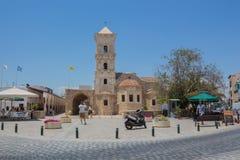 """拉纳卡,塞浦路斯†""""2015年6月26日:圣徒拉撒路,家神教会  免版税库存照片"""