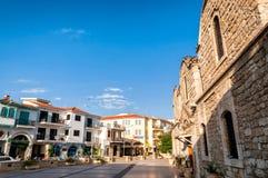 拉纳卡,塞浦路斯- 8月16 :圣徒拉撒路广场教会  库存照片