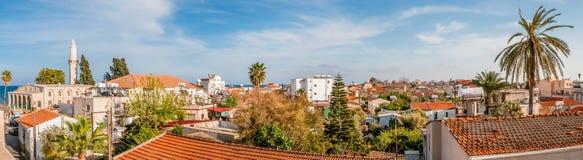 拉纳卡 塞浦路斯 老全景城镇 免版税库存图片