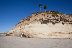 索拉纳海滩峭壁 免版税库存照片