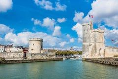 拉罗歇尔法国古老堡垒塔  免版税库存图片