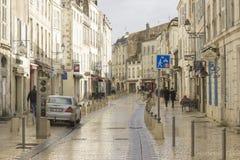 拉罗歇尔,法国的西海岸的老镇 库存照片