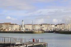 拉罗歇尔,法国老港口  免版税图库摄影