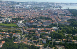 拉罗歇尔,法国鸟瞰图  免版税库存照片