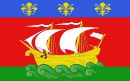 拉罗谢尔,法国旗子  皇族释放例证
