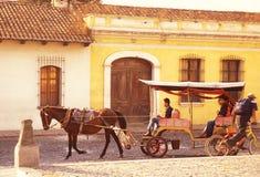 拉美危地马拉安提瓜岛 免版税库存照片