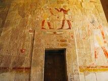 拉美西斯三世太平间寺庙Medinet的波布 免版税图库摄影