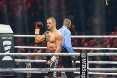 拉脱维亚专业拳击手Mairis Briedis 库存照片