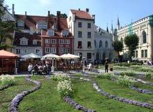 拉脱维亚主要里加广场 库存照片