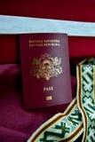 拉脱维亚状态的护照 免版税库存图片