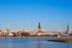 拉脱维亚老里加视图 库存图片