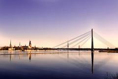拉脱维亚老里加 免版税库存照片