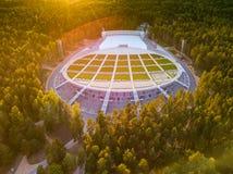 拉脱维亚里加 Mezapark露天阶段 歌曲和舞蹈节日 库存照片