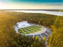 拉脱维亚里加 Mezapark露天阶段 歌曲和舞蹈节日 库存图片