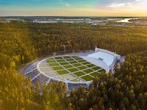 拉脱维亚里加 Mezapark露天阶段 歌曲和舞蹈节日 免版税图库摄影