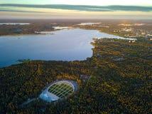 拉脱维亚里加 Mezapark露天阶段 歌曲和舞蹈节日 免版税库存照片