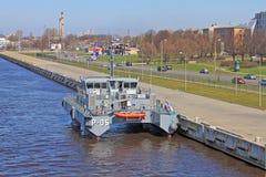拉脱维亚巡逻艇 库存照片