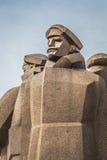 拉脱维亚步枪兵的苏联时代纪念碑 拉脱维亚步枪兵w 免版税库存照片