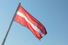 拉脱维亚的旗子 免版税库存照片