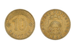 拉脱维亚的硬币 免版税库存照片