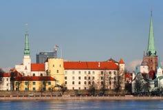 拉脱维亚老宫殿总统里加 图库摄影